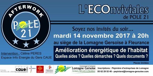Invitation L'ECOnviviales du 14 novembre 2017